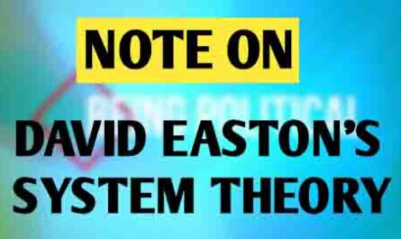 "David Easton System theory is an important theory in comparative politics. A system is defined as a set of related units, which interact with each other on a continuous basis.  The overall interactions within the units of the system allow the system to function and equilibrium is attained.  David Easton is the first political thinker to use the system analysis to understand the political process. He has explained system theory in his book 'A Framework for political analyses'.  David Easton deals with politics in explicit systemic terms.   Easton defines the political system as 'a set of interaction as abstracted from the totality of the social behavior, through which values are authoritatively allocated for society.  David Easton argues that all political systems are closely connected with other social systems. In his analysis, there is a regular flow of influences from the environment to the system and system to the environment.  The flow of influences from the environment to the system is called input, whereas the flow of influences from the system to the environment is called output. Easton said that any political system has these two components - i. e Input Output The input comprises of demand and support. Demand refers to a set of claims, desires, needs, and wants made by the general public or a particular group before the government. The demand can be in the form of appeals, agitations, elections, etc. Easton defines demand as an expression of the opinion that ""an authoritative allocation with regard to the particular subject matter should or. should not be made by those responsible for doing so"". People make demands upon the political decision-makers and it is the function of the system to convert the demands into decisions. Demands may be classified as follows  i) Demands for the allocation of goods and services such as demands for wages and hour laws, educational opportunities, recreational facilities, roads and transportation.  ii) Demands for the regulation of behavior such as provisions for public safety, controls over markets and rules pertaining to marriage, health and sanitation:  iii) Demands for participation in the political system as the right to vote, hold office, petition government bodies and officials and to organize political associations.  (iv) Demands for communication and information such as demands for the affirmation of norms, communication of policy intent from policy elites, or the display of majesty and power of the political system in periods of threat or on ceremonial occasions. Like demands, there is also a support mechanism that sustains the system. Supports refer to political obedience or values or ideologies or belief system that people have towards the system.  The support mechanism provides legitimacy to the system. It may be symbol symbolic like waving the flag or singing National Anthem or substantial like attending political meetings or voting regularly etc.  Support can be both covert and overt. The support is covert when it· refers to supportive attitudes. The support is overt when the action is clear and manifest. Supports can be classified as indicated- i) Material supports such as payment of taxes or other levies and the prov1s1ons of services such as labor on public works or military service;  ii) Obedience to rules and regulations;  iii) Participatory supports, such as voting, political discussion and other forms of political activity;  iv) Attention paid to governmental communication, and the manifestation of deference or respect to public authority symbols, and ceremonials. The political support may lack due to the failure of the government to deliver the goods and services to the people. But if the government does not rectify it properly within a stipulated period of time, then the people withdraw support from the government, which may threaten the very existence of the system itself.  The function of the political system depends partly on the structural· mechanism and partly, on the support, diffused or specific, which operates in society.  But its main function depends on its performance. Here comes the output.  The output is nothing but the results or decisions taken by the government.  In this regard, four processes are involved. i) Extractions which may take the form of tribute, booty, taxes or personal services;  ii) Regulations of behavior which may take a variety of forms and affect the whole gamut of human behavior and relations;  iii) Allocation or distribution of goods and services, opportunities, honors, statuses and the like;  iv) Symbolic outputs, including affirmation of values, displays of political symbols, statements of policy, and intents.  The environment of the political system - Easton argues, out of the political system there exists another system that constitutes the environment of the political system.  This environment can be divided into two parts - intra societal and extra societal. The intra societal system includes the economy, culture, social structure, or personalities. These segments are part of the society of which the political system itself is a part. They shape or influence the conditions under which a political system itself must operate.  The extra societal system includes all the systems, which lie outside a given society. They are the component of emerging International society which may be called Supra society.  The International political system and international economic systems would be in the category of extra societal system, which also shapes the political system of a society.  Eastern argues the political system is separated from another system by means of boundaries. But these boundaries are difficult to identify as the political system interacts with other systems through means of exchange and interaction. David Easton argues a political system begins functioning as a result of inputs receives from the environment. Once input is received by the system it begins processing the inputs which is known as the conversion process.  The conversion process converts the input into output in the form of rules to be enforced and policies to be implemented. The output affects the environment and even modifies the input.  Not all that goes as input, flow in the output unit. In every political system, there are certain gatekeepers' mechanism that decides what valid and invalid demand is.  In the democratic system political parties play the role of gatekeepers, they choose certain demands made by the public as valid and legitimate, and other demands gets rejected.  Feedback Mechanism Central to David Easton system theory is his concept of feedback. This is basically a Communications process. It is a dynamic process through which information about the performance of the system is communicated back to it, which affect the subsequent behavior of the system.  Feedback is an essential element of Easton's system theory. It functions in between the inputs and outputs. Outputs not only influence the events but in doing so, they determine each succeeding round of inputs. This feedback loop completes the cycle of the political system and makes it a dynamic and regenerative operation.  The feedback has two aspects viz. positive and negative. The negative aspect deals with the regulations of error and the positive aspect deals with the problems of purposive direction. Feedback belongs to the domain of control engineering. Merits of David Easton System Theory :   First, David Easton system theory offers a framework for scientific analysis of the political process. David Easton system theory is dynamic and is able to explain the change that that place in politics. It has normative dimensions  David Easton system theory is unified that can be used to study both national and international politics. Criticism of David Easton System Theory  David Easton System Theory suffers from several weaknesses and shortcomings- David Easton system theory has been criticized for being too abstract. It said to be too far from empirical reality. It is not able to explain certain drastic political events like revolutions or ethnic conflict. David Easton system theory  does not clearly articulate how conversions or feedback system work or function It is said that David Easton system theory supports the status quo. It is status quoits and conservative in nature. The countries of the third world passionately seek change in all spheres of economic, social, and cultural life but systems model cannot comprehend the pace, scale, and nature of change in them.   Watch Video of David Easton System Theory   David Easton's views on systems analysis from a developmental point of view provide some theoretical information about the functions of political systems. The operational mechanisms of any political system can be judged through input-output analysis. In addition, feedback also acts as an effective channel of communication between the system and the people and vice versa. However, David Easton system theory views cannot be considered completely correct. His ideas are very abstract and devoid of empirical examination. Afro-Asian nations that are undergoing changes in various fields will rarely accept the conservative nature of Easton's systems analysis in the process of political development.   Also Read Gramsci's Theory of Hegemony Isaiah Berlin Two Concepts of Liberty"