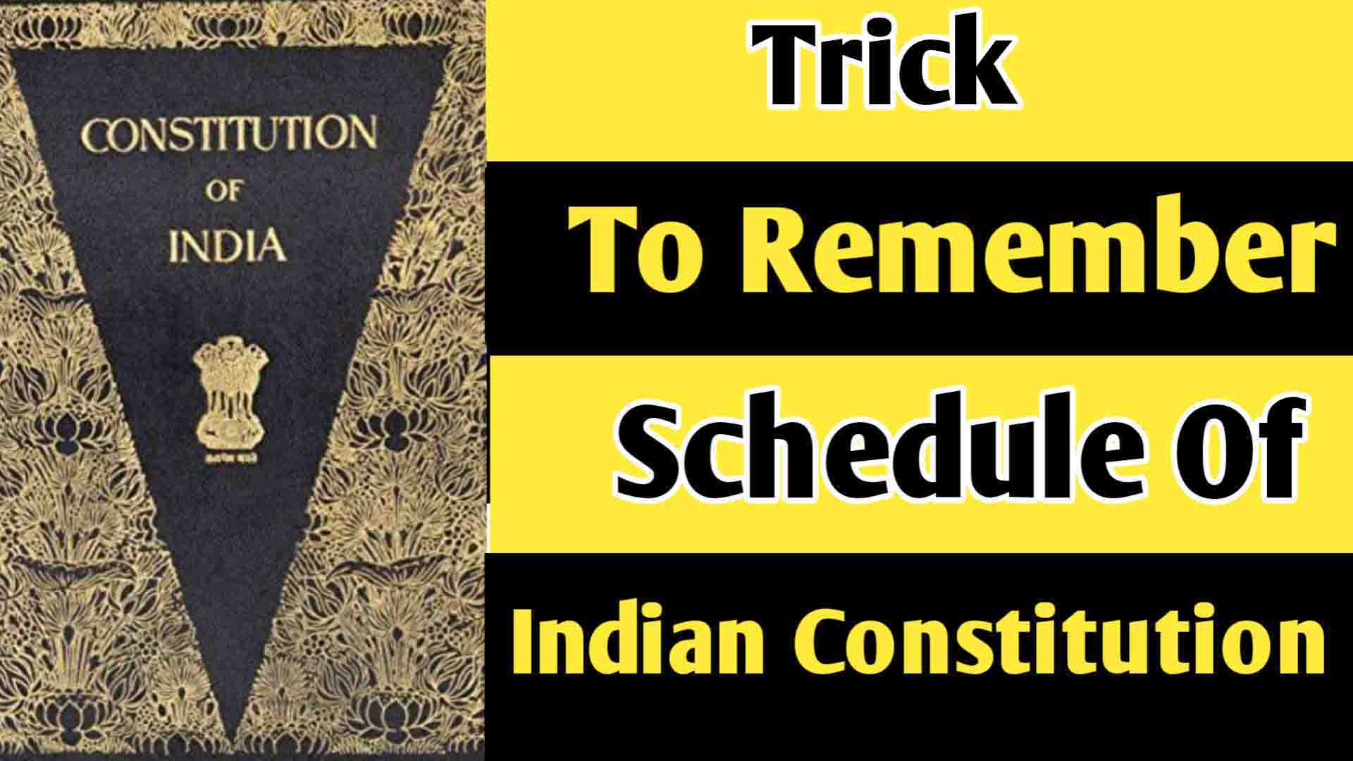 Tears Of Old PM Trick to Remember Schedules of Indian Constitution