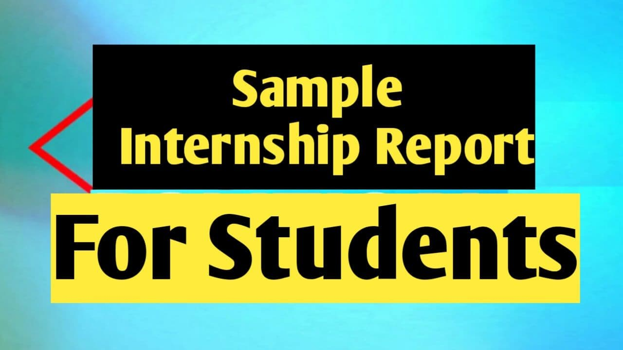 Sample of Internship Report for Student (B.Ed)