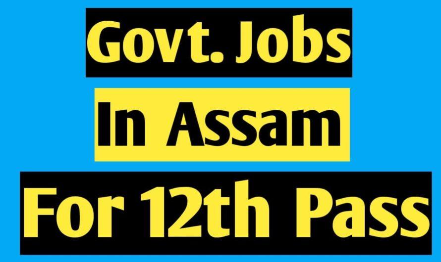 Best Govt Jobs in Assam for 12th Pass 2021
